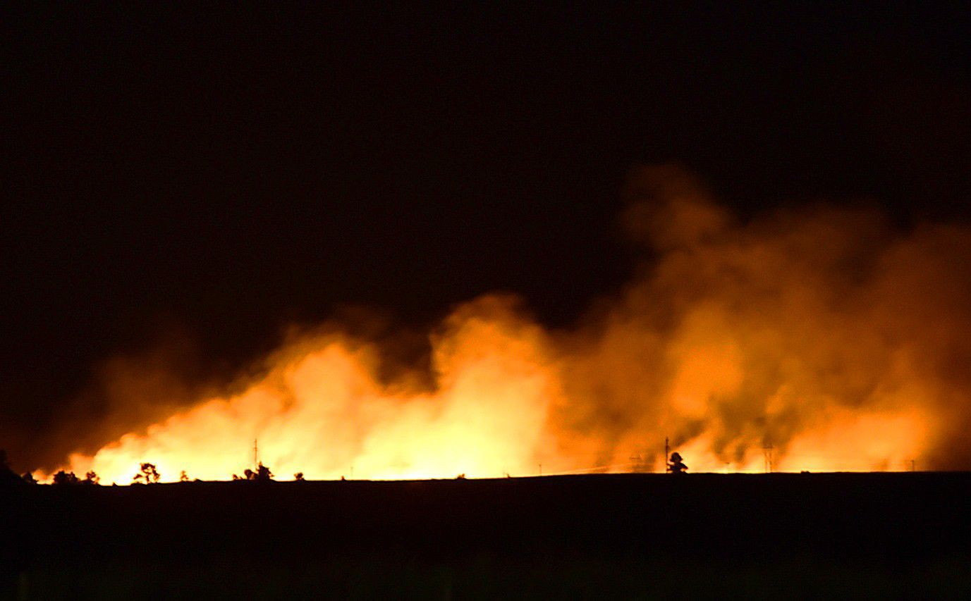 Multiple firefighting agencies respond to grass fire north of Billings | Billings Gazette