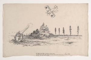 Drawings depict World War I through eyes of Wyoming soldier