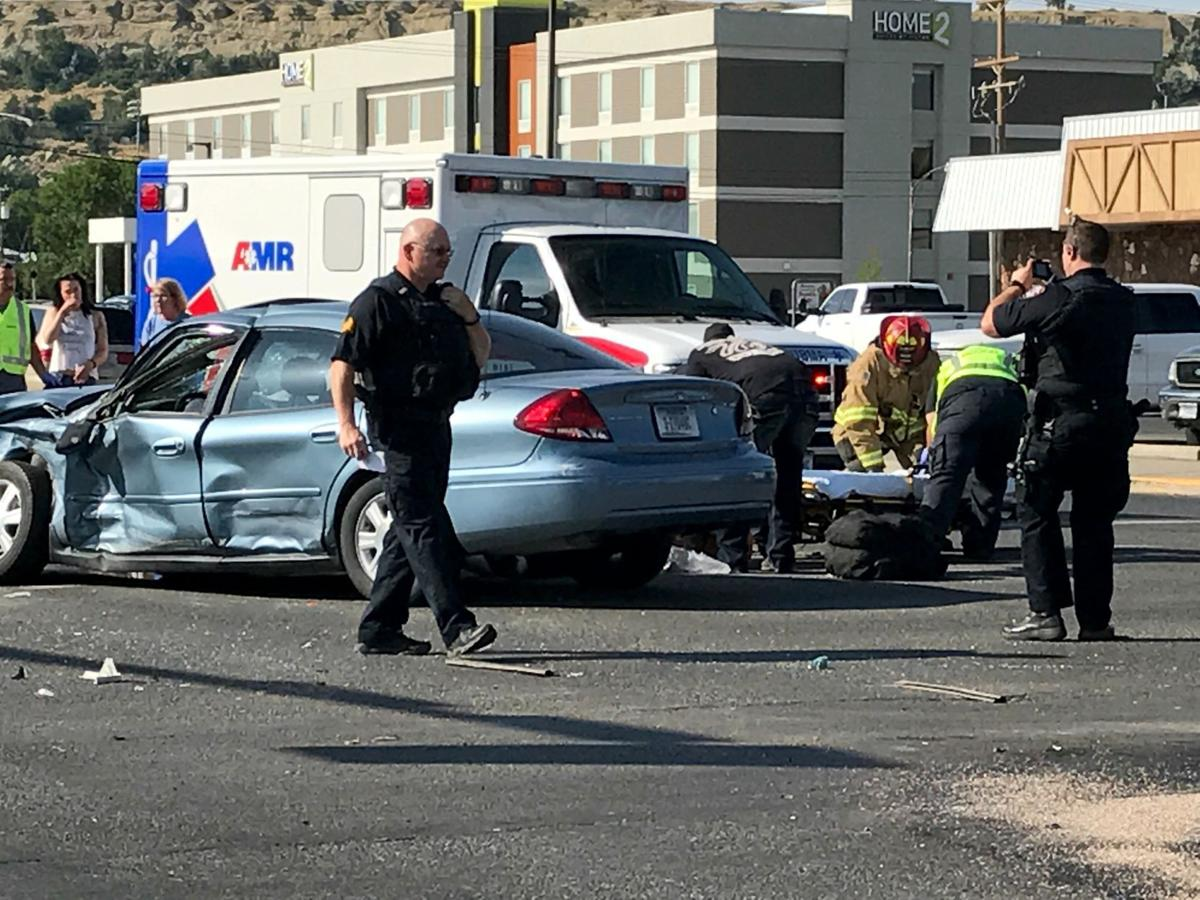 Downtown crash
