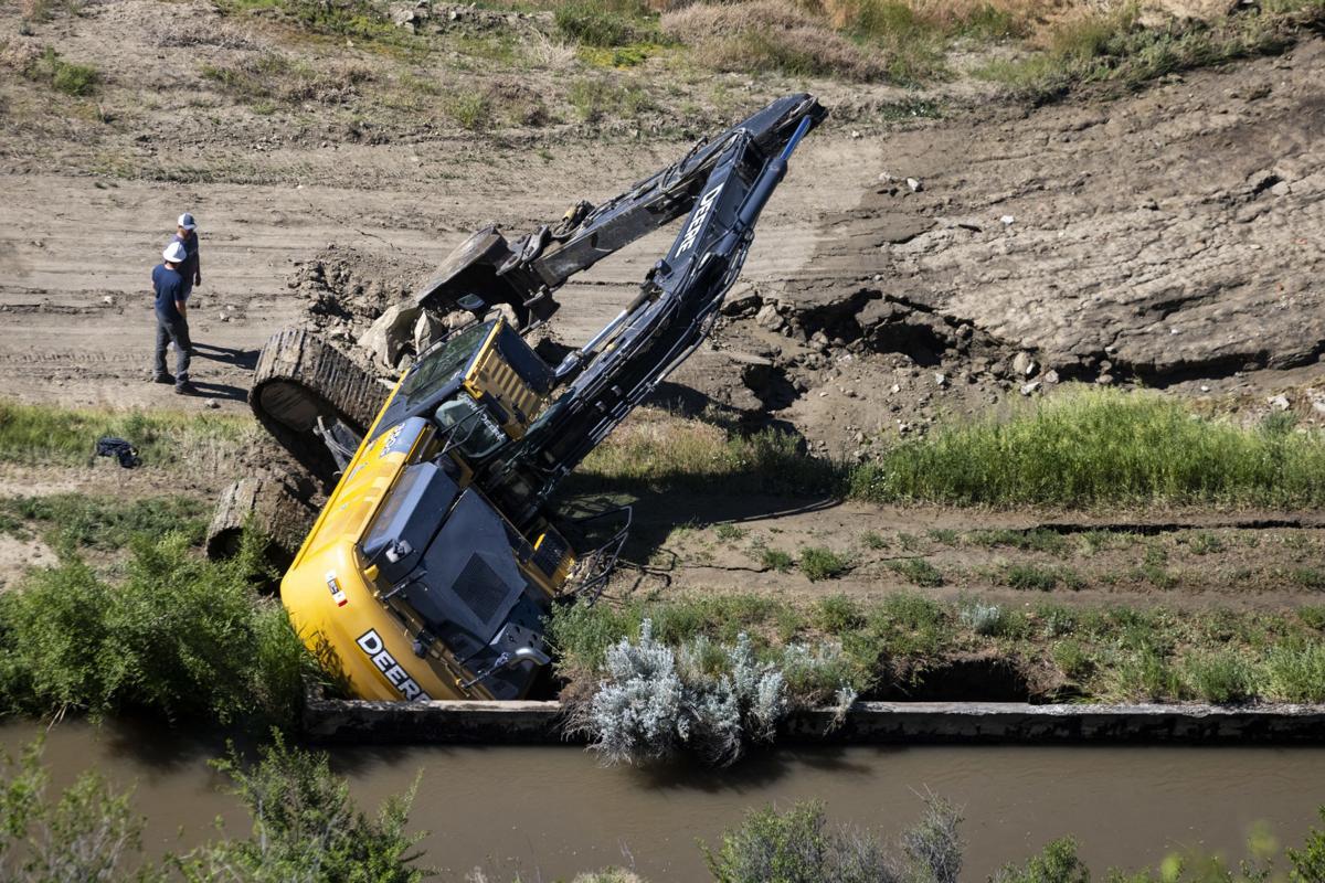 Billings Bench Water Association ditch flooding