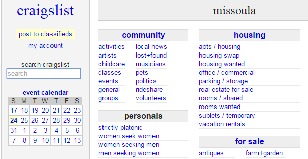 Women seeking men craigslist mt