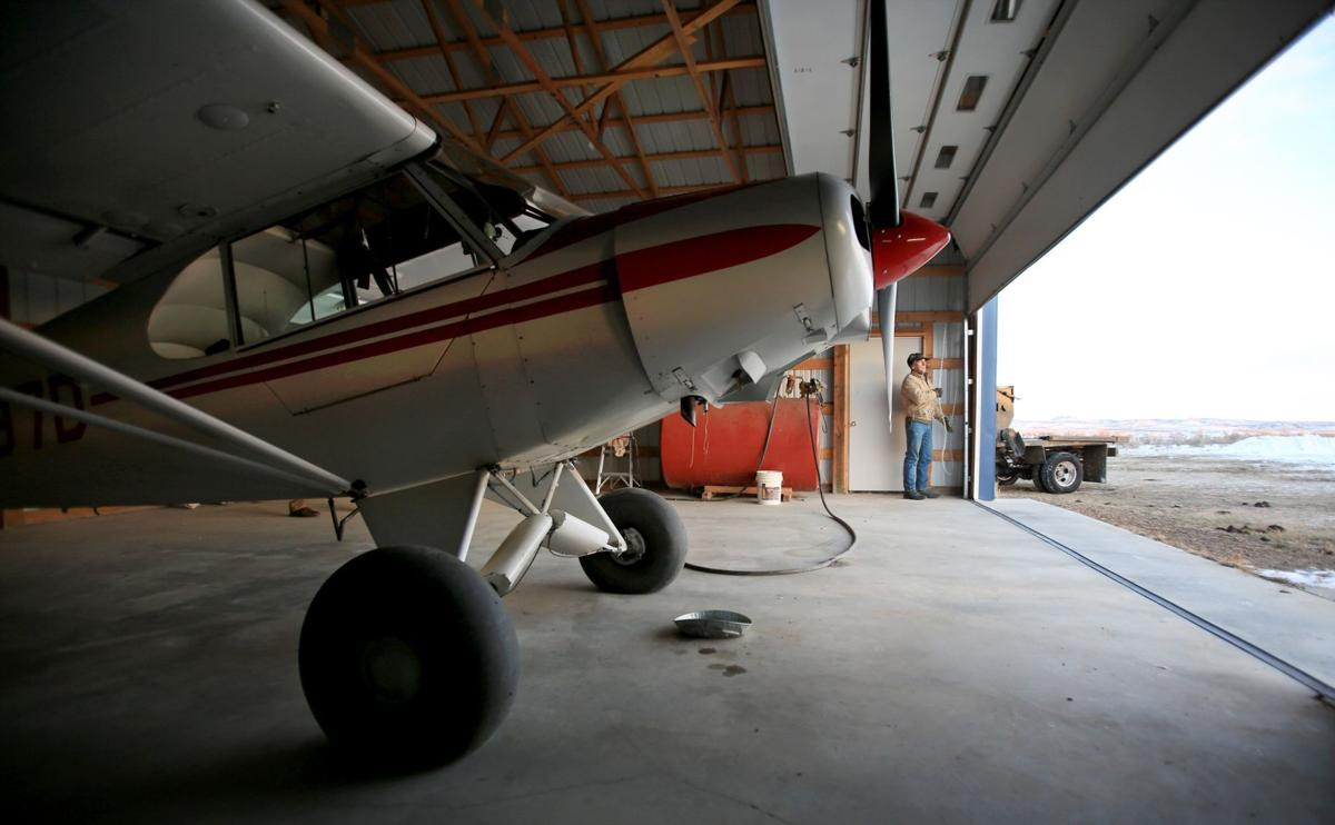 Scot Robinson and his Cub airplane
