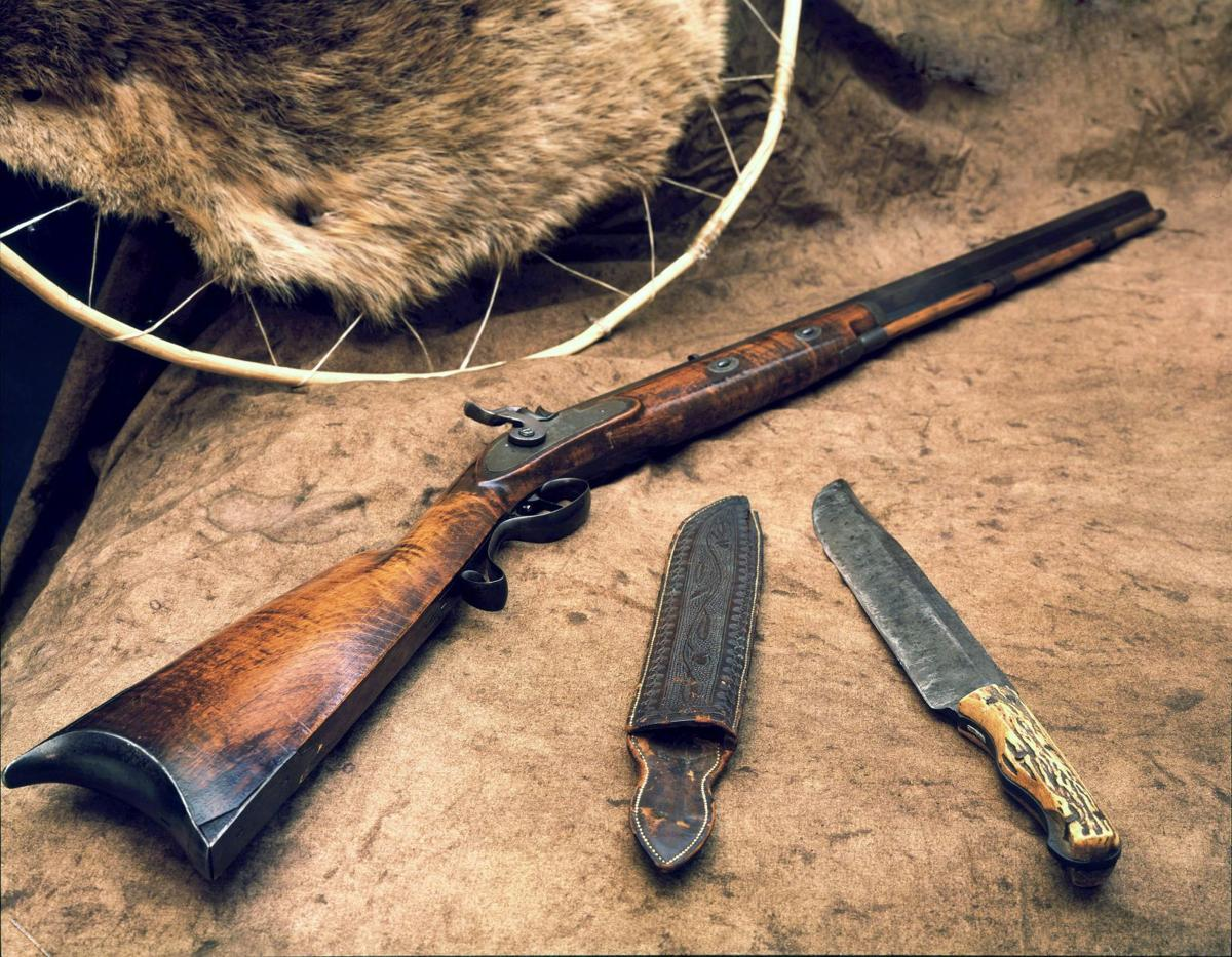 Rifle and knife