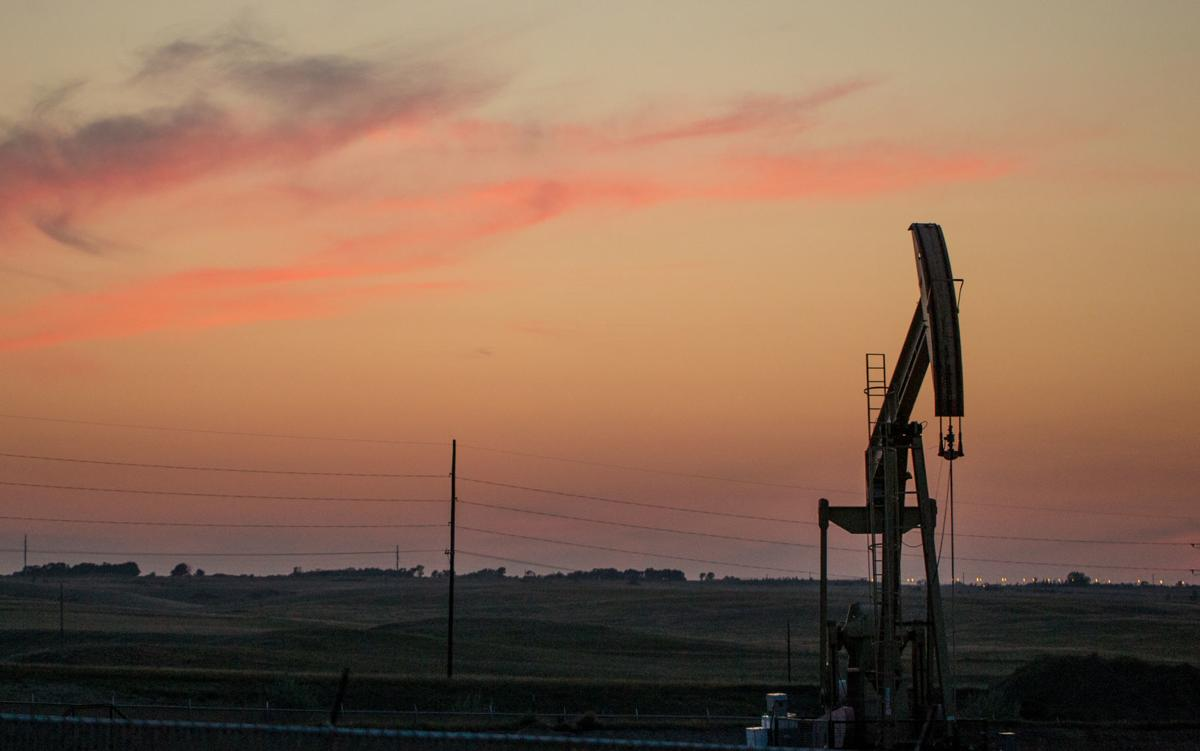 Oil jack in Bakken oil field