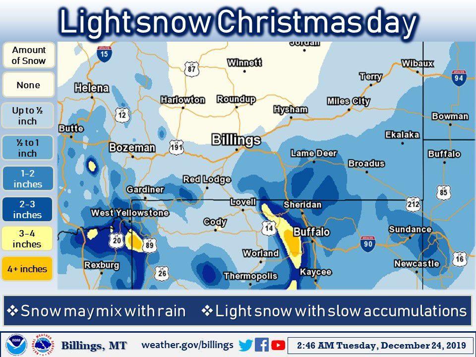 Snow map 12-24-19