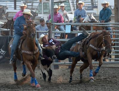 Yellowstone River Round-Up: Idaho steer wrestler changed