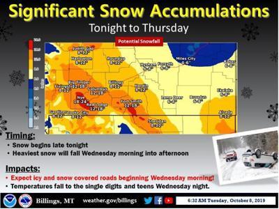 October winter storm snow accumulation potential