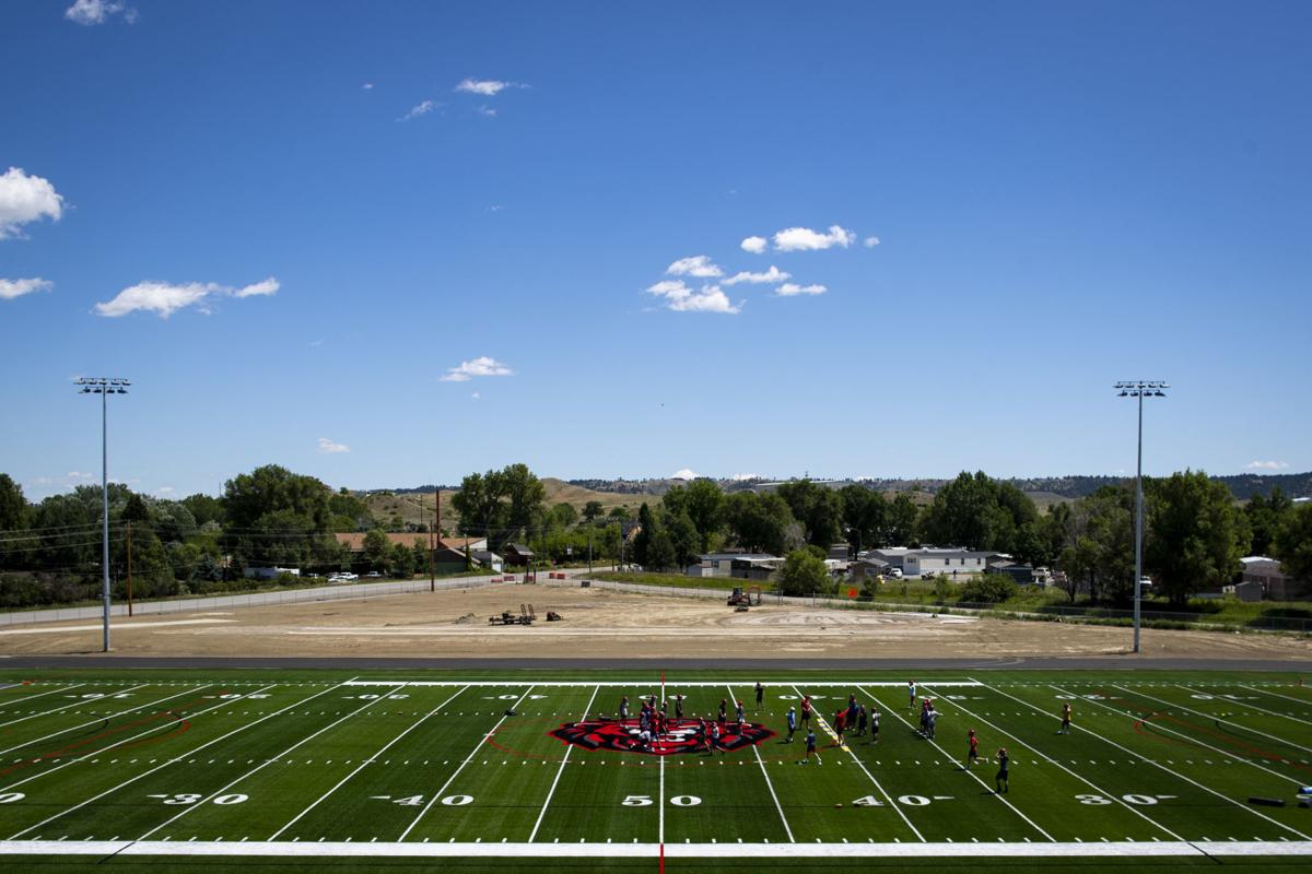 Lockwood football practice