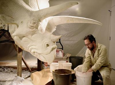 Billings artist recreates old taxidermy workshop, with a 65-million-year-old twist