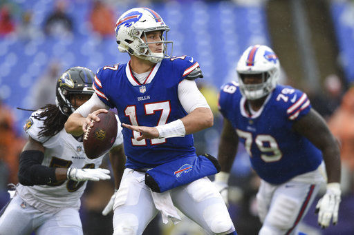Bills will start rookie Josh Allen at QB against Chargers