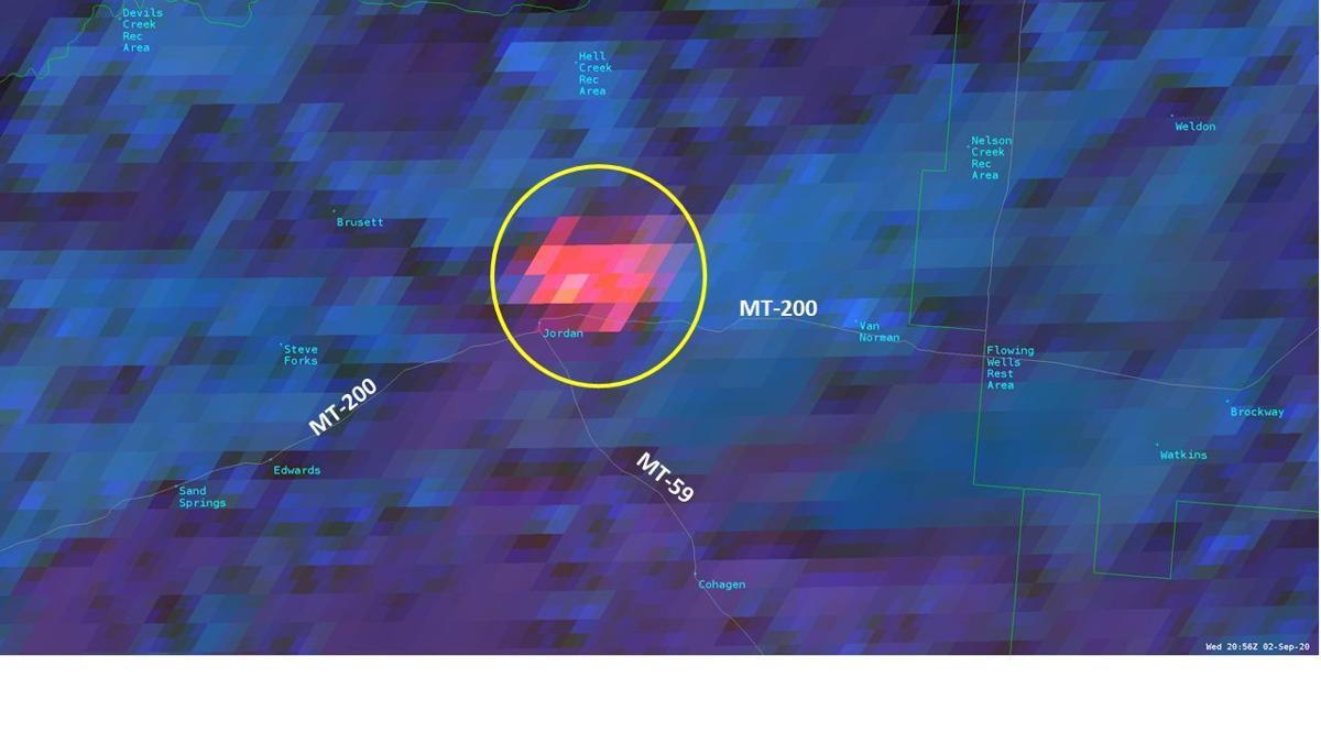 Garfield County fire satellite image