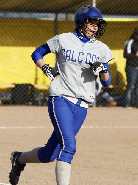 Skyview's Amber Meyers runs the bases