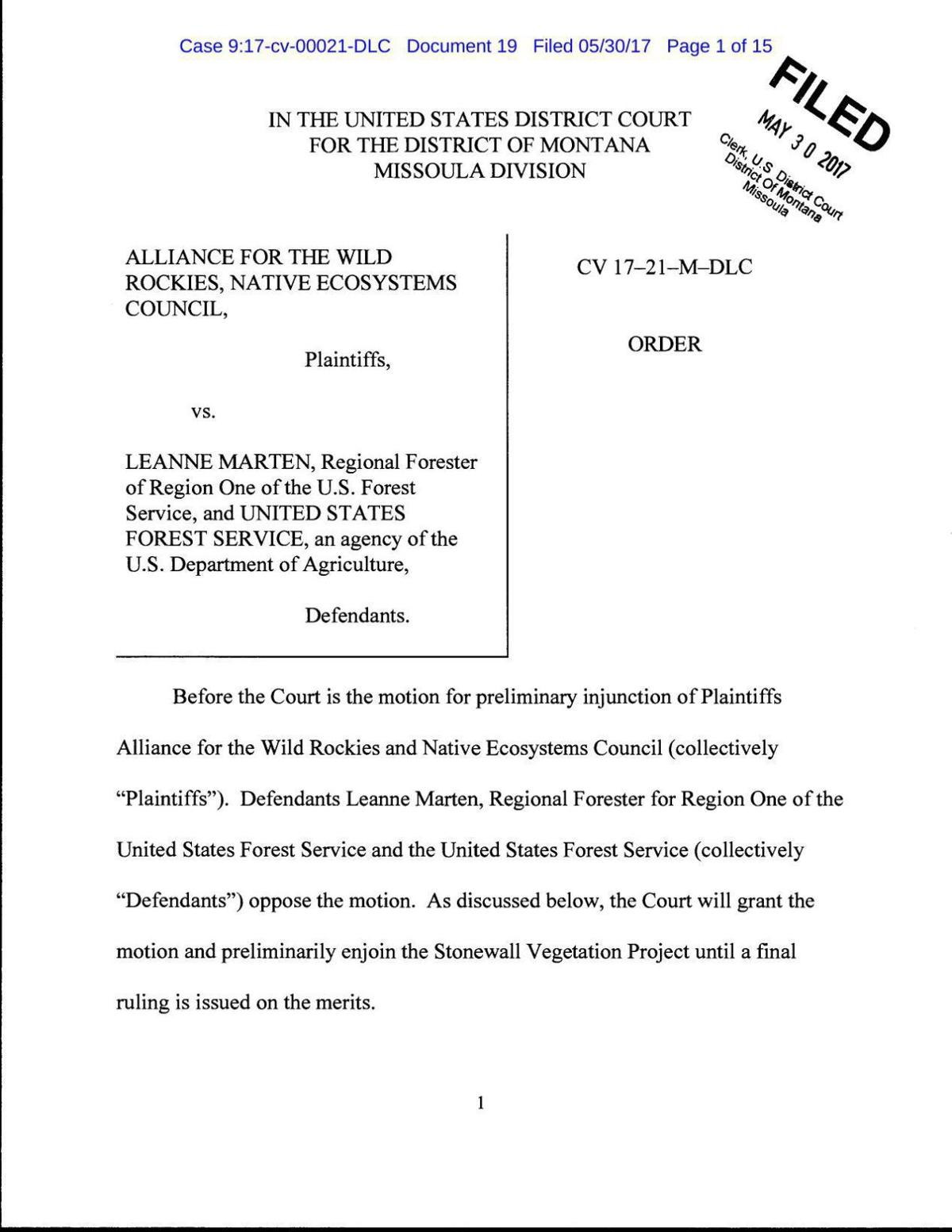 Stonewall Injunction