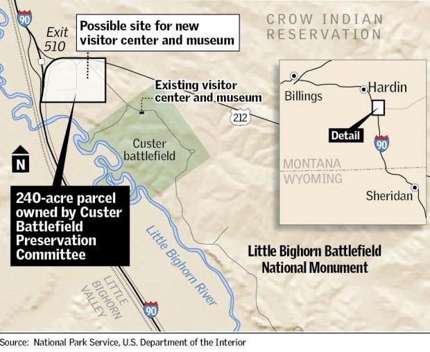 Little Bighorn Battlefield map