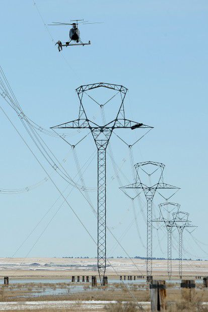 Reflectors installed on power line to curb bird deaths   Local ...