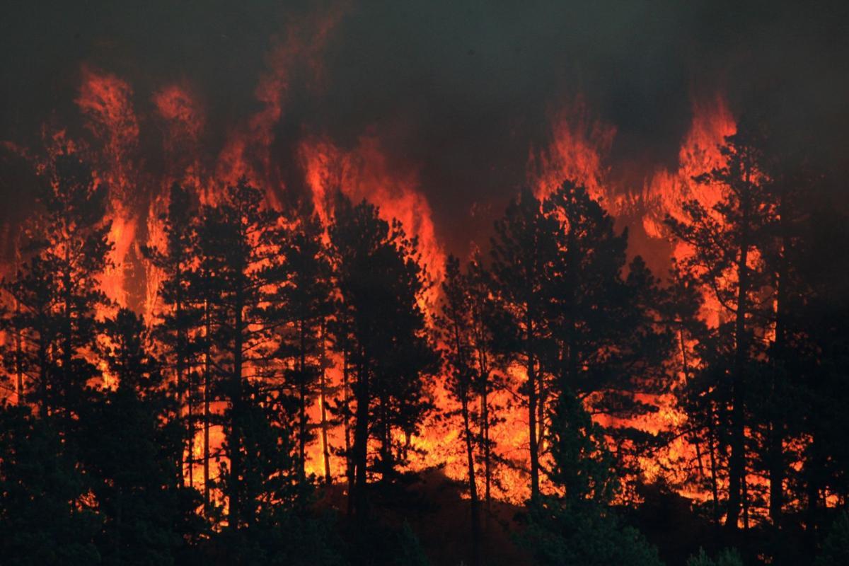 Landusky fire