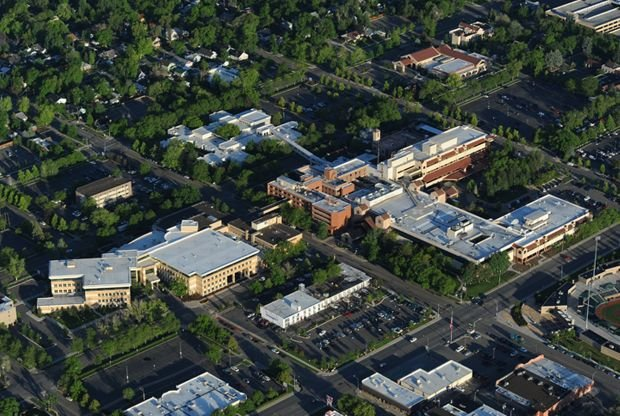 Aerial view of Billings Clinic