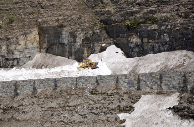 Glacier road work