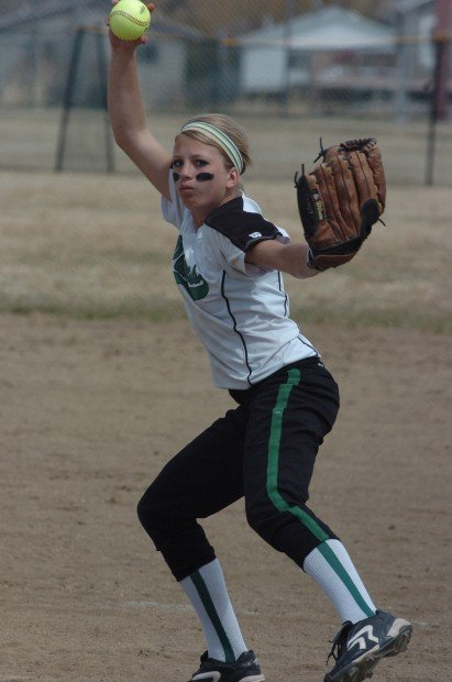 Justine Taylor winds up to deliver a pitch