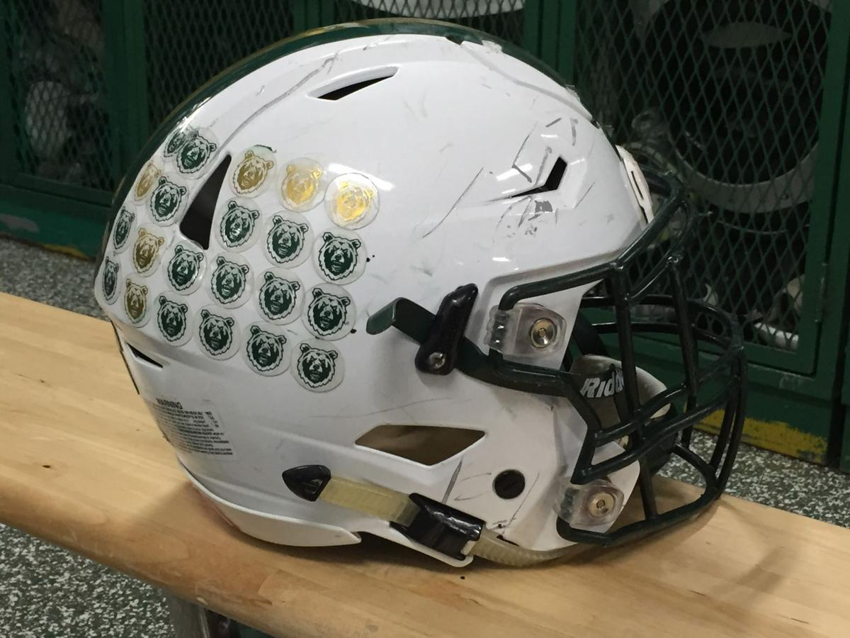RMC linebacker Billy Williams' helmet