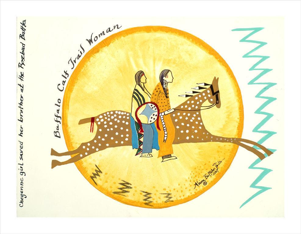 'Buffalo Calf Trail Woman,' by Alaina Buffalo Spirit