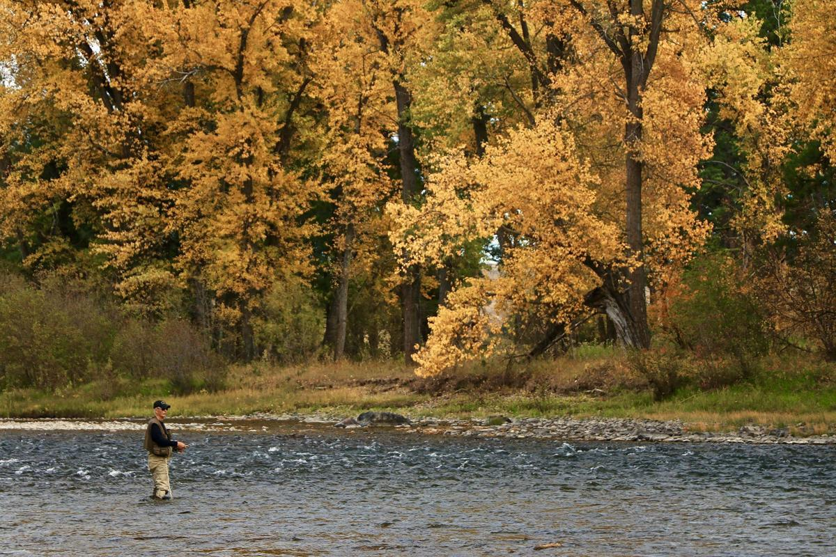 Author fishing the upper Blackfoot River