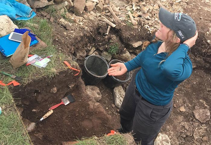 Private digs: Montana State students unearth bison kill site near Judith Gap