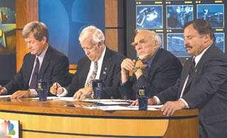 4 Senate candidates keep to their scripts