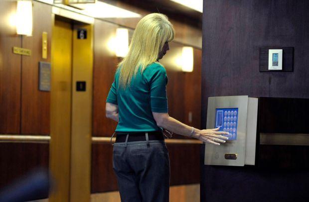 First Interstate Center elevators.