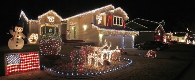 Neighborhoods celebrate christmas with lights local the lights at 3065 ave e on candy cane lane aloadofball Images