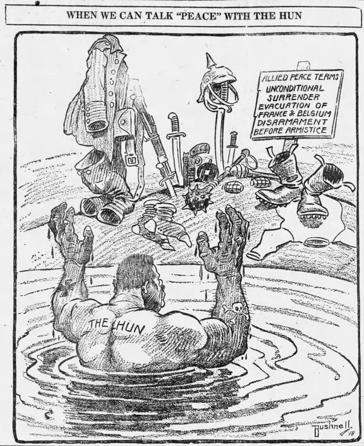 World War I editorial cartoon