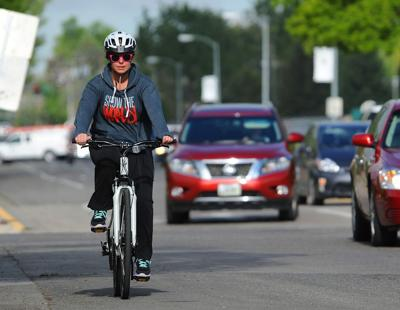 Cyclist on Poly Drive