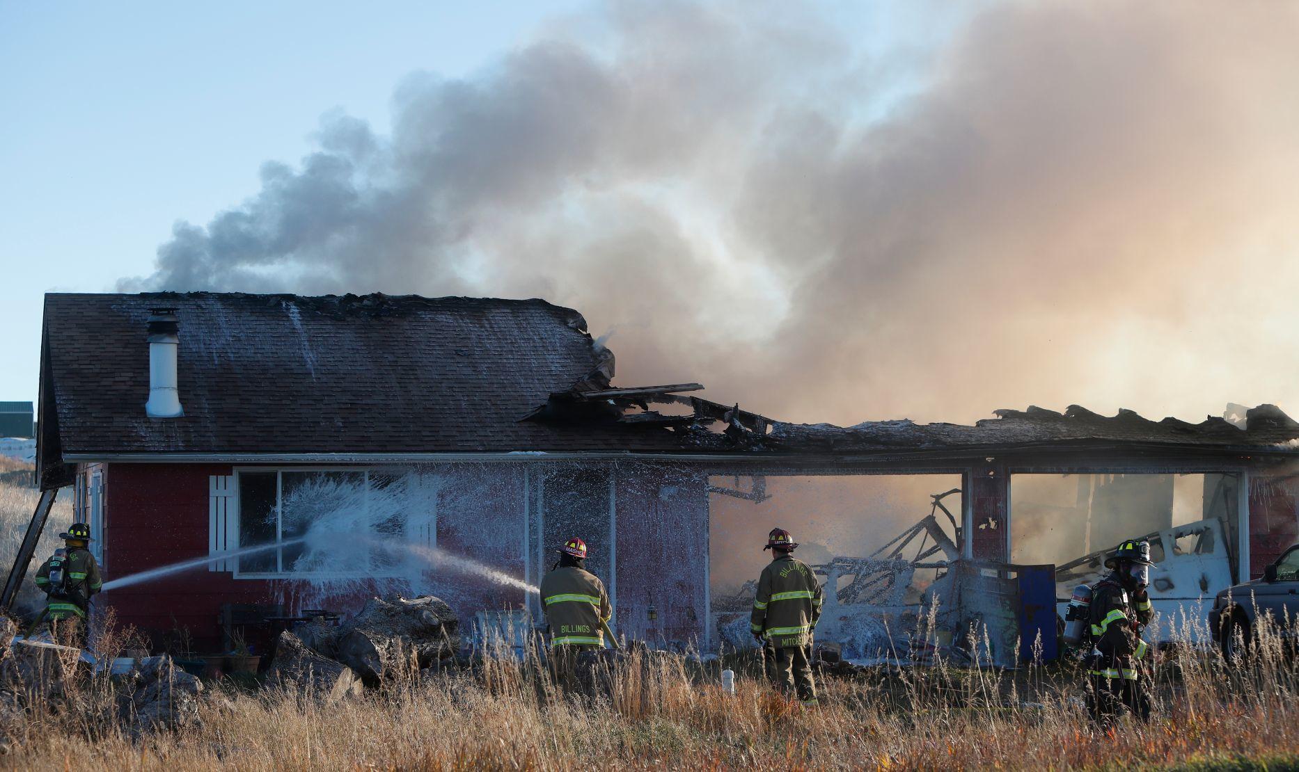 Home burns down on Billings' far West End | Billings Gazette