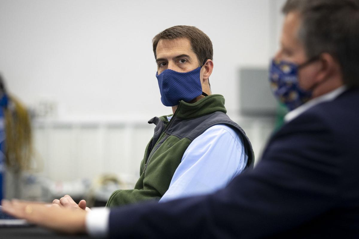 Senators Steve Daines and Tom Cotton meet with Montana Mask creators
