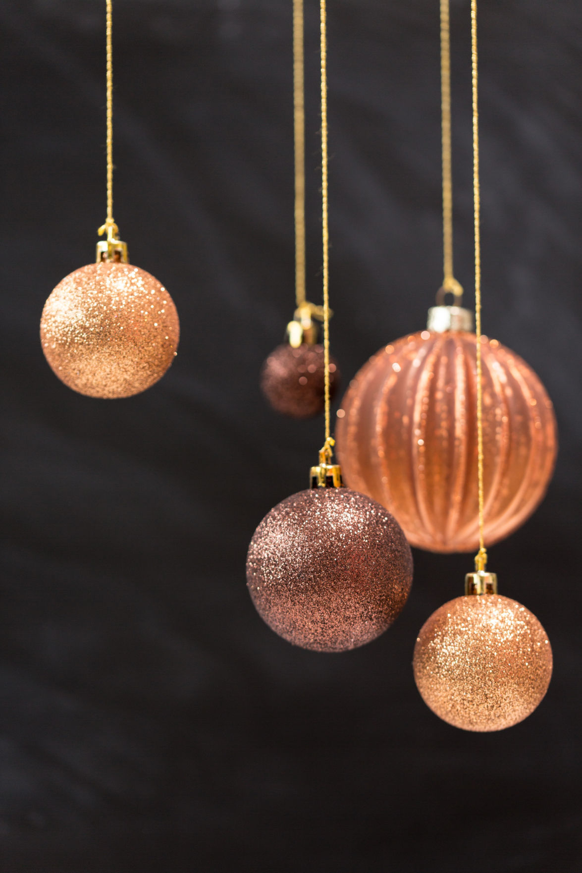 copper ornaments - Ideas For Decorating For Christmas Inside