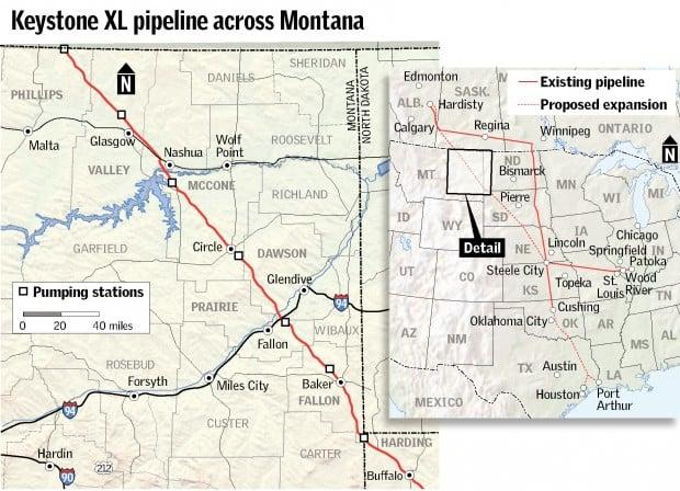 Keystone XL pipeline across Montana