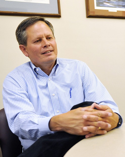 Steve Daines gathers his thoughts