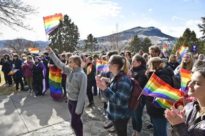 Carroll College students and faculty rally