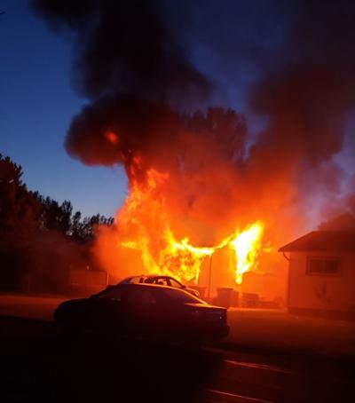 Aurora Drive garage fire