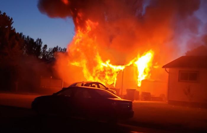 Neighbors help evacuate home during garage fire on Billings' West End