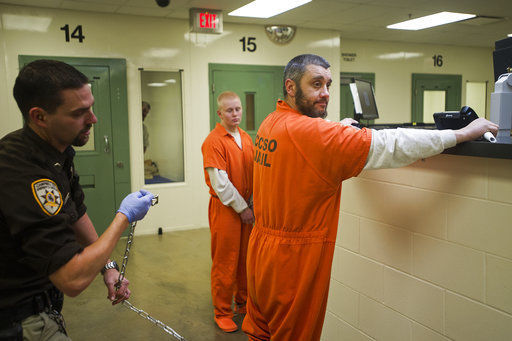 After arrest, inmates cross state to complete sentences