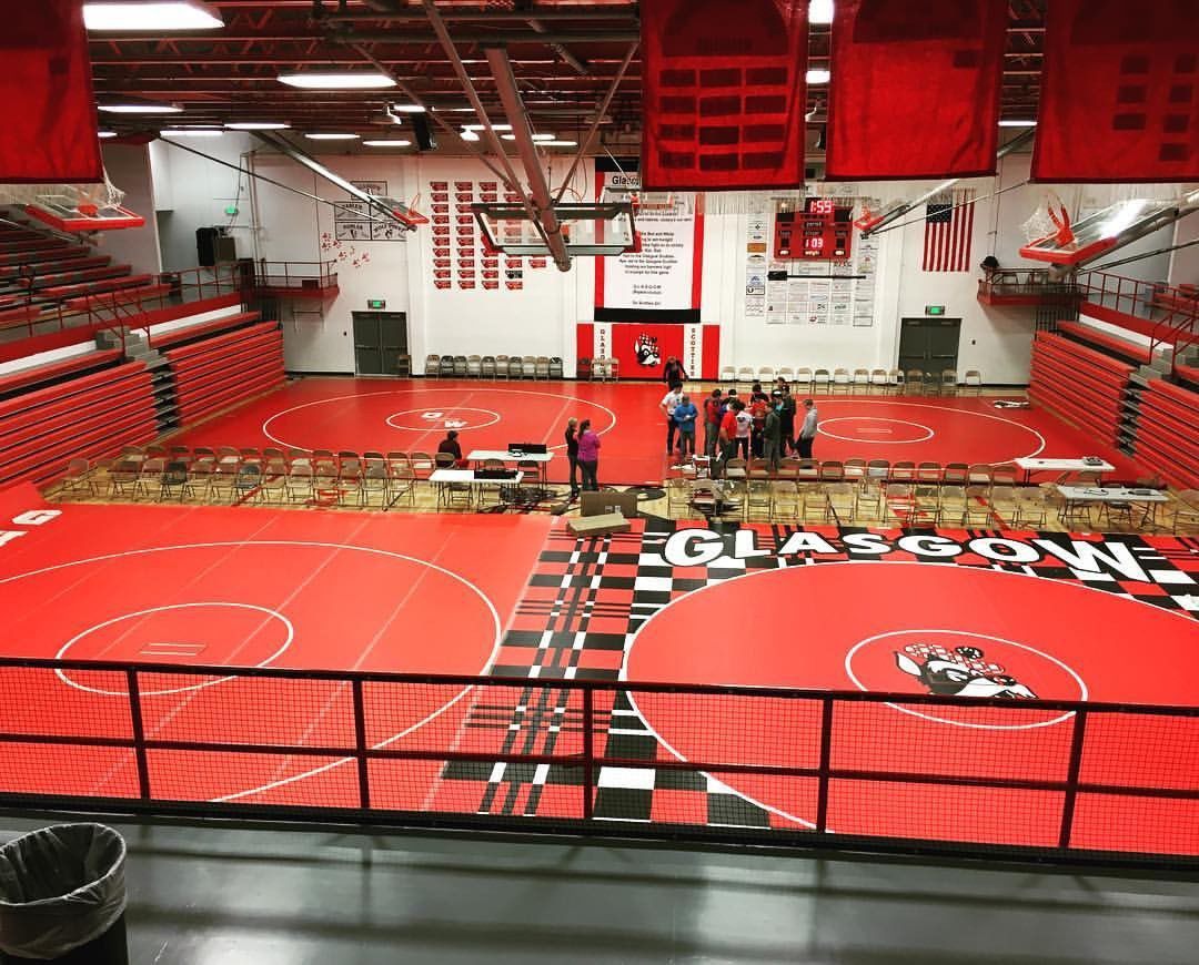 A view of the gym before the 21st Annual Scottie Wrestling Invitational in 2016