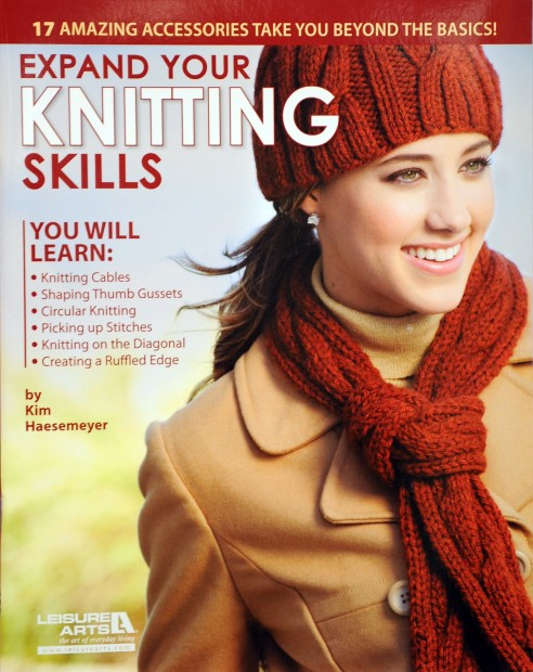 "Kim Haesemeyer's book, ""Expand your Knitting Skills."""