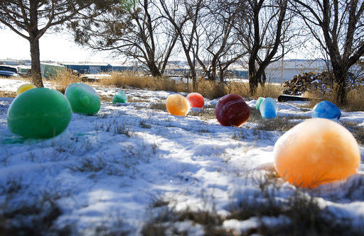 Retired plumber uses cold to create colorful 'gumdrops'