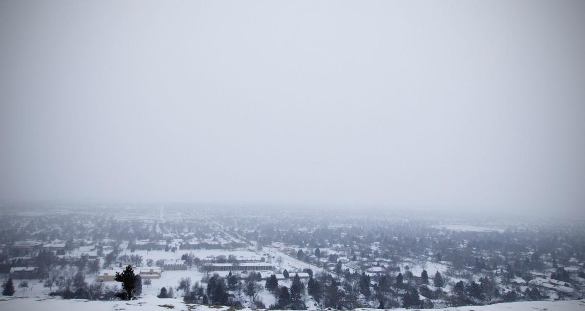 Snow falls on Billings