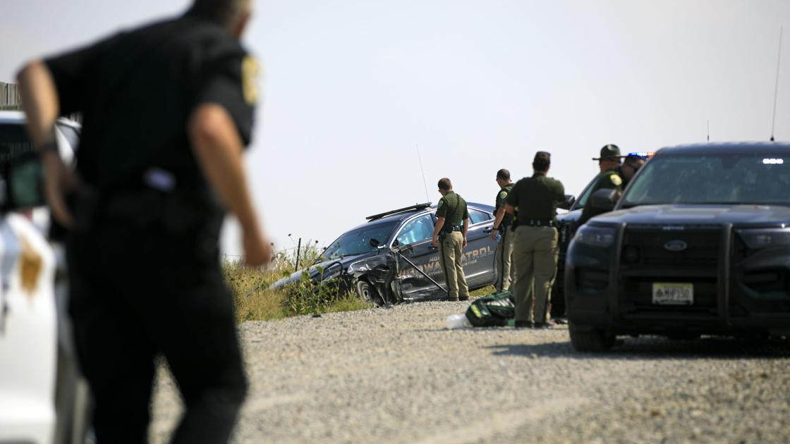 Chase south of Billings leaves 2 suspects injured, MHP car totaled