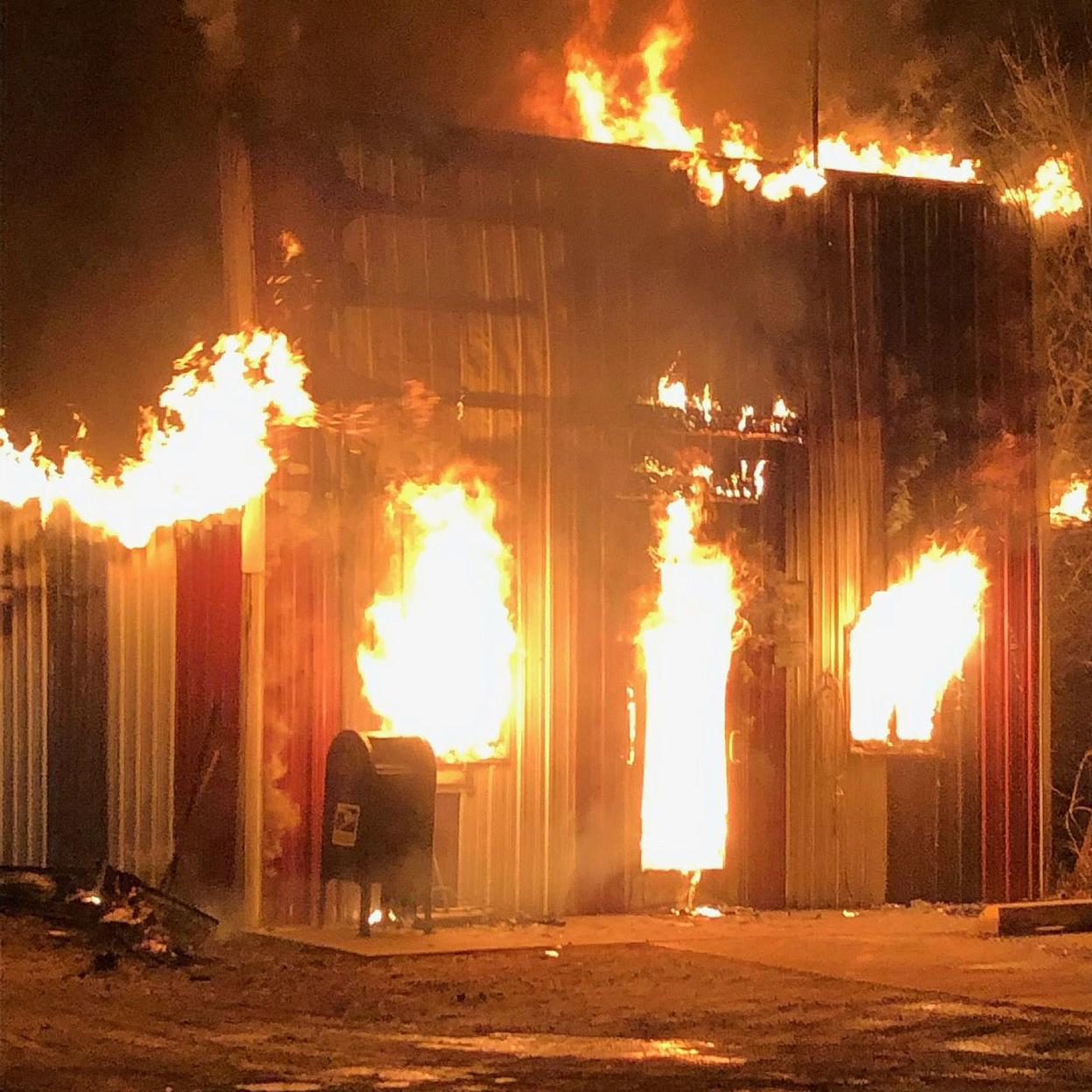 Fire Destroys Post Office In Town Formerly Known As Joe Montana