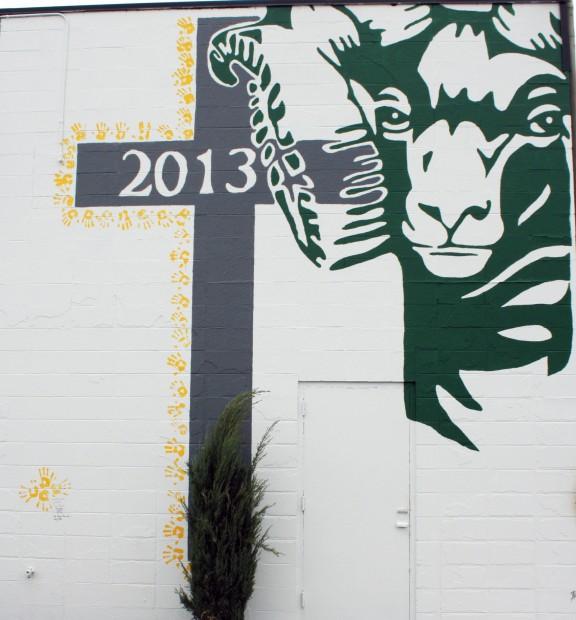 Billings Central Catholic High School mural