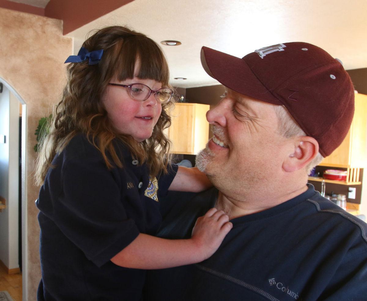 Annalyn and her father Wayne Halvorsen