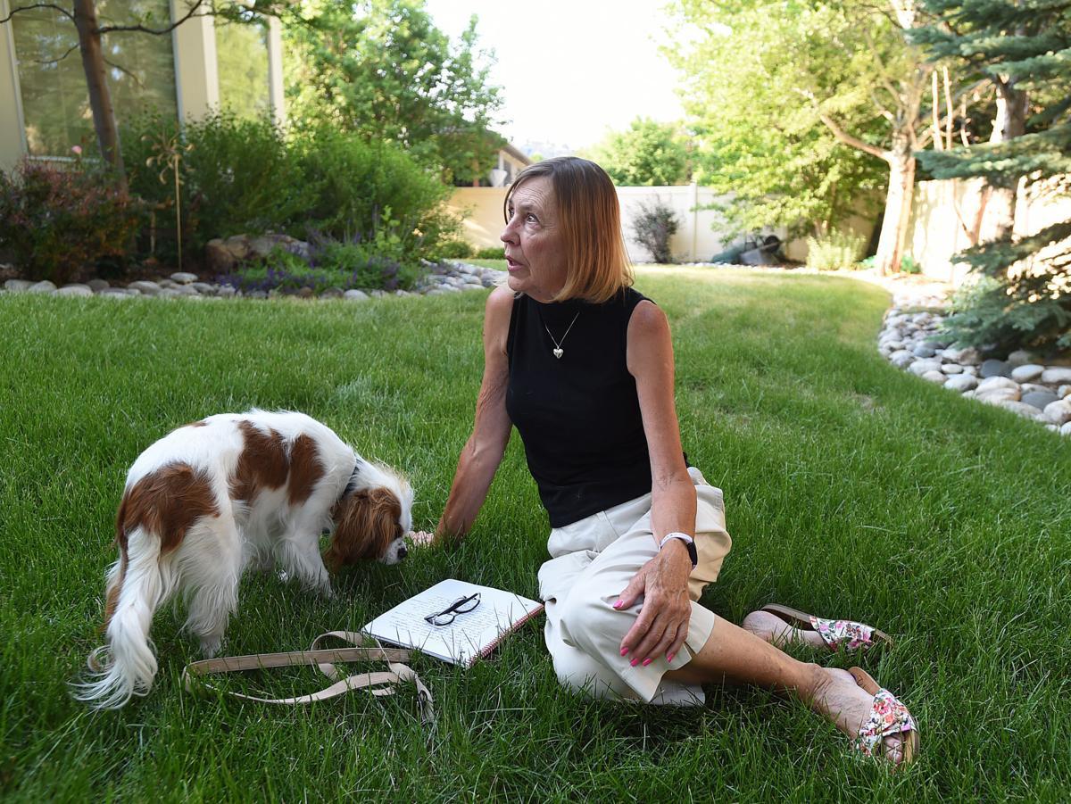 Deb Klusman and her dog Beau